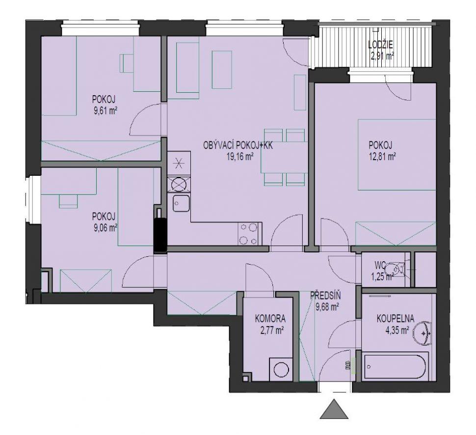 výměra bytu